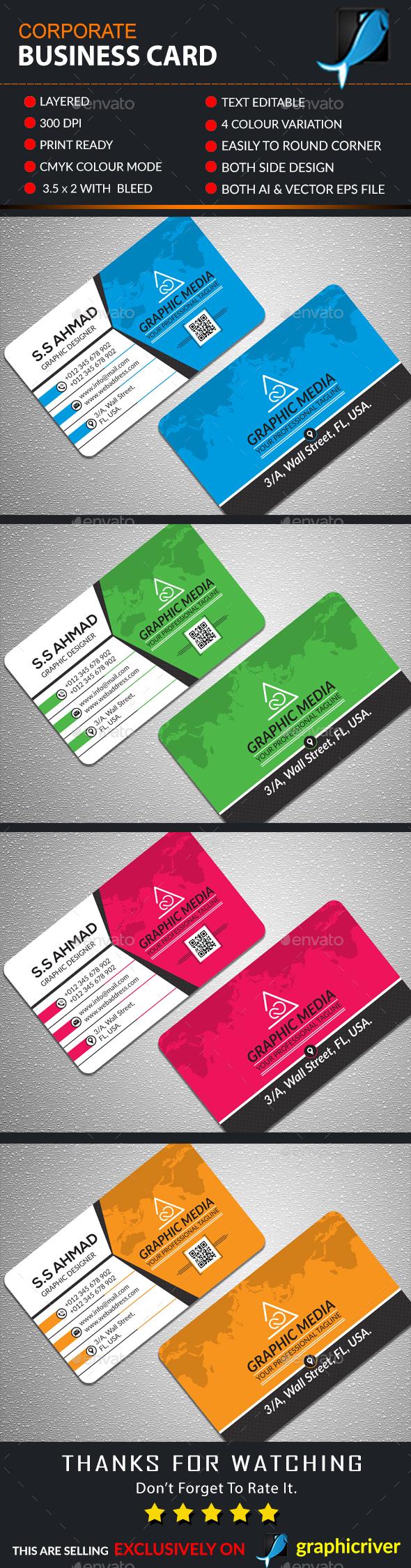 Corporate Business Card Corporate Business Card Printing Business Cards Business Card Inspiration