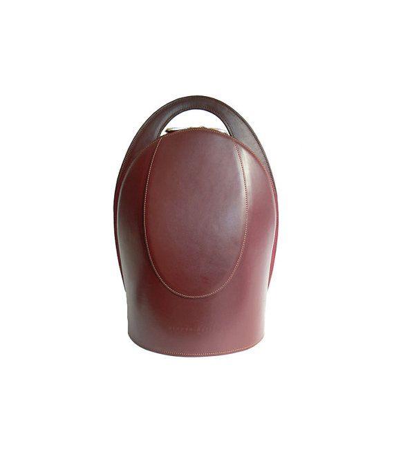 Burgundy Leather Backpack For Women Modern Handbag Leather Backpack Burgundy Leather