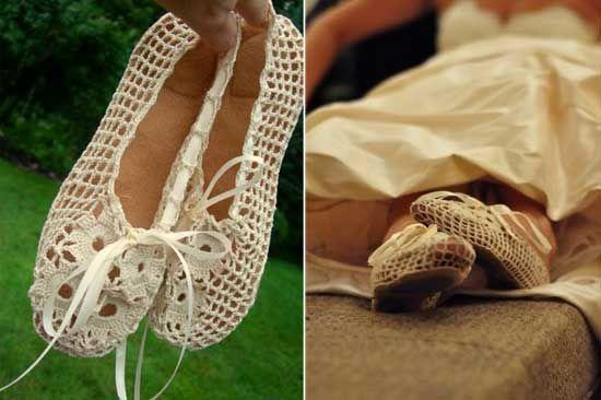 free crochet womens ballet slipper patterns - Google Search ...