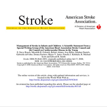 stroke in children
