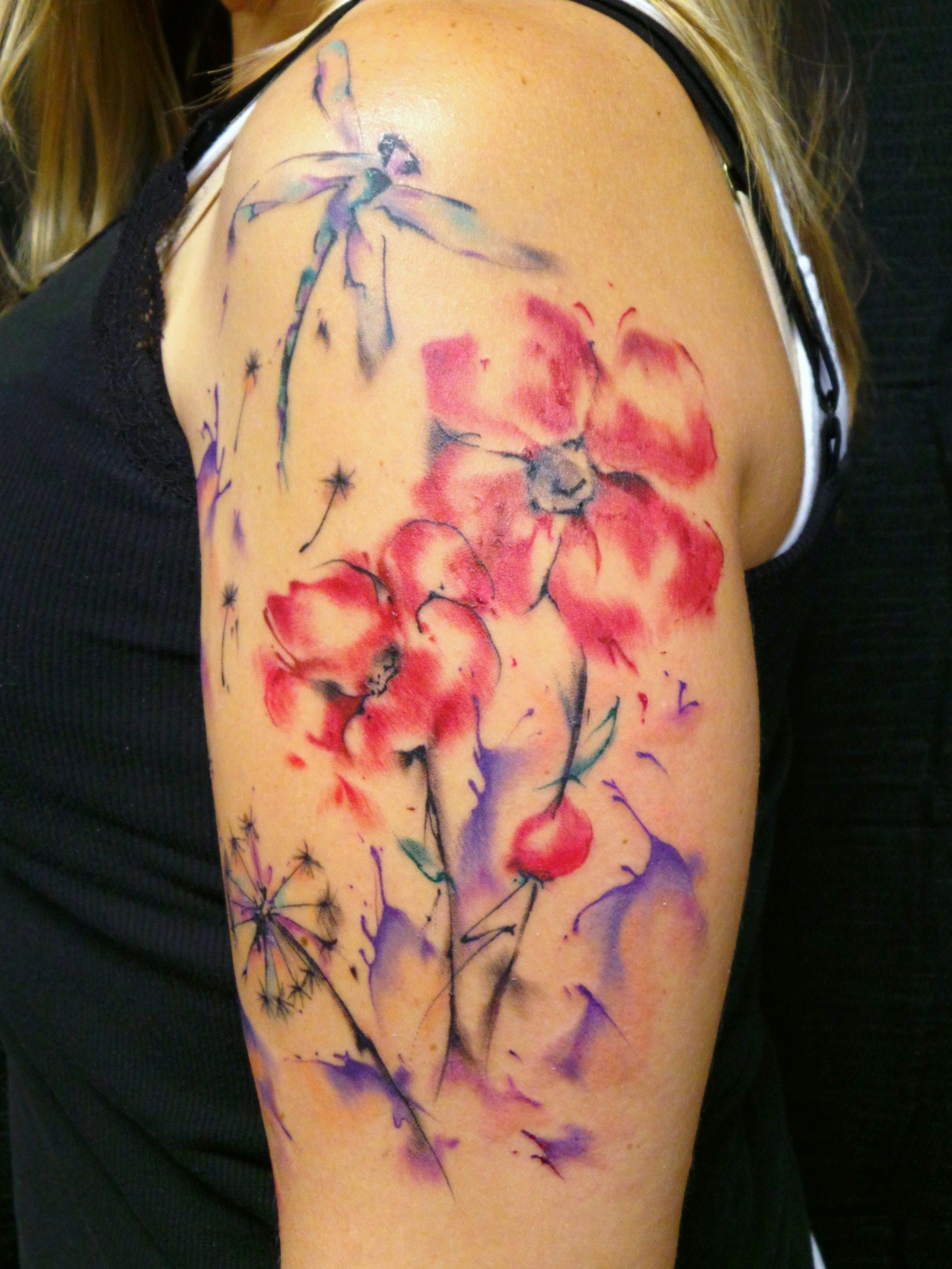 Watercolor tattoo by tina gray nc tattoos by tina pinterest watercolor tattoo by tina gray nc jasmine flower izmirmasajfo