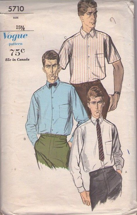 Vogue 5710 Vintage 50\'s Sewing Pattern The BEST Fancy Dress Men\'s ...