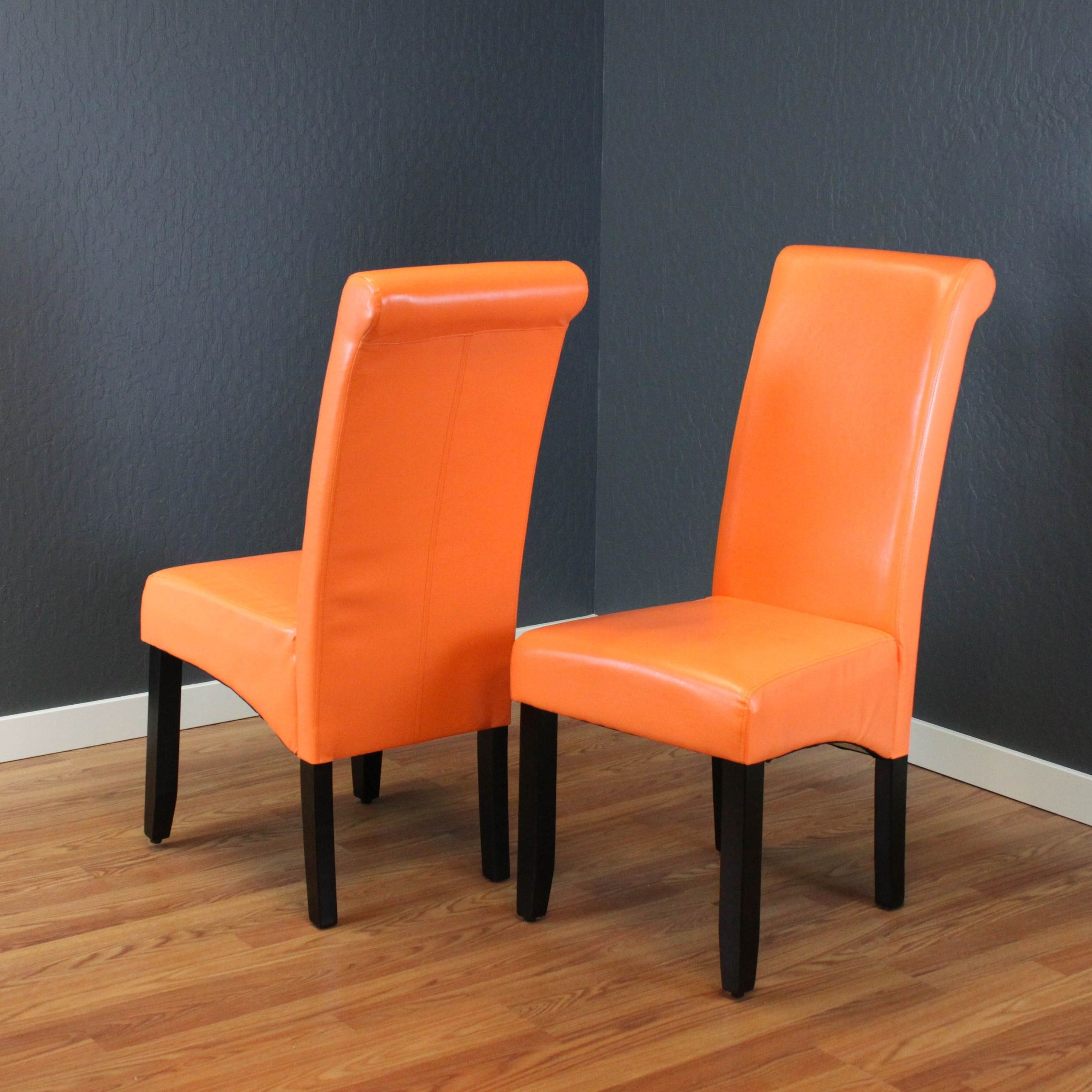 Milan Faux Leather Dining Chairs Set Of 2 Boysenberry Monsoon