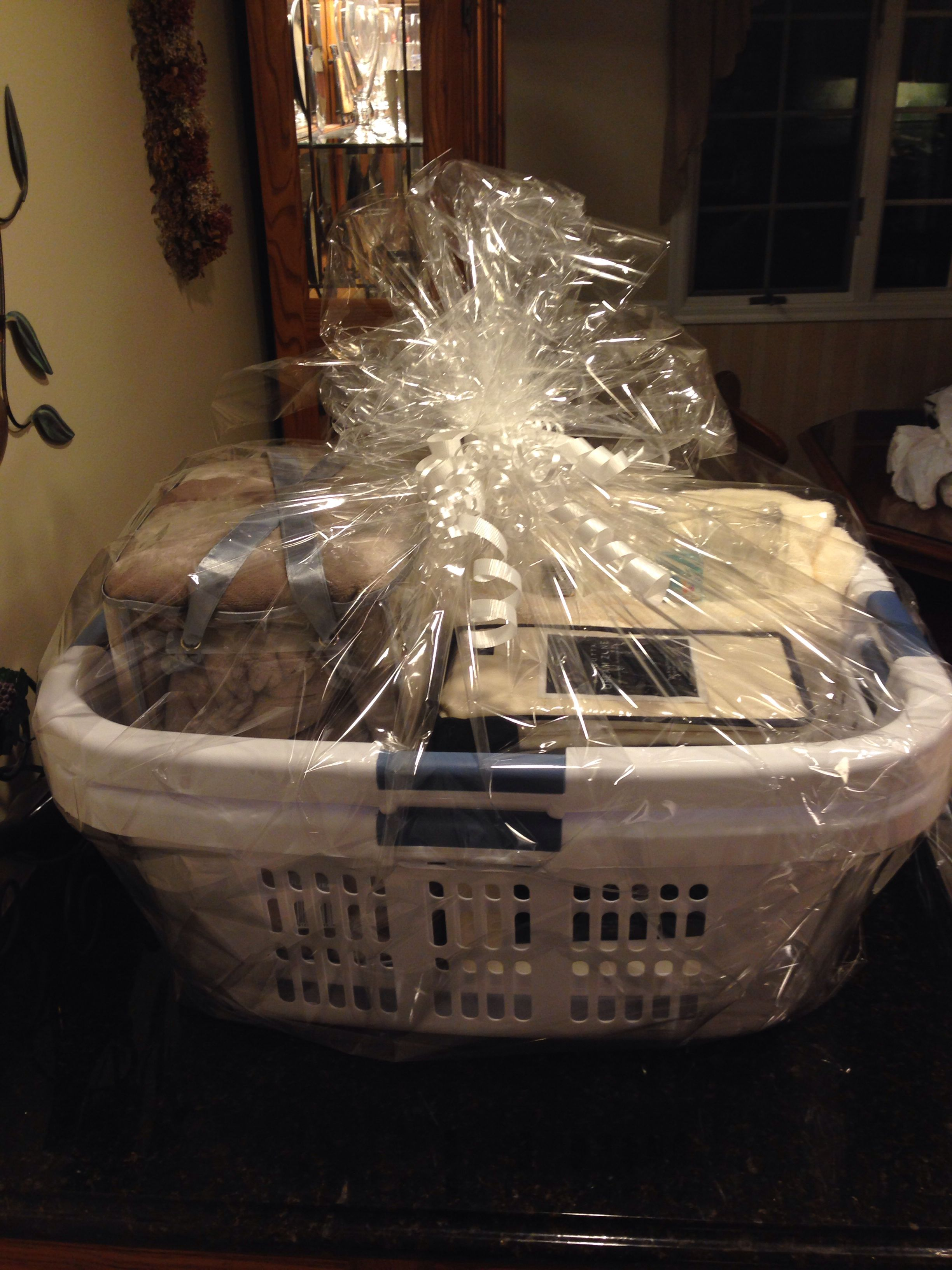 Laundry basket with gifts for Bridal Shower! Themed gift