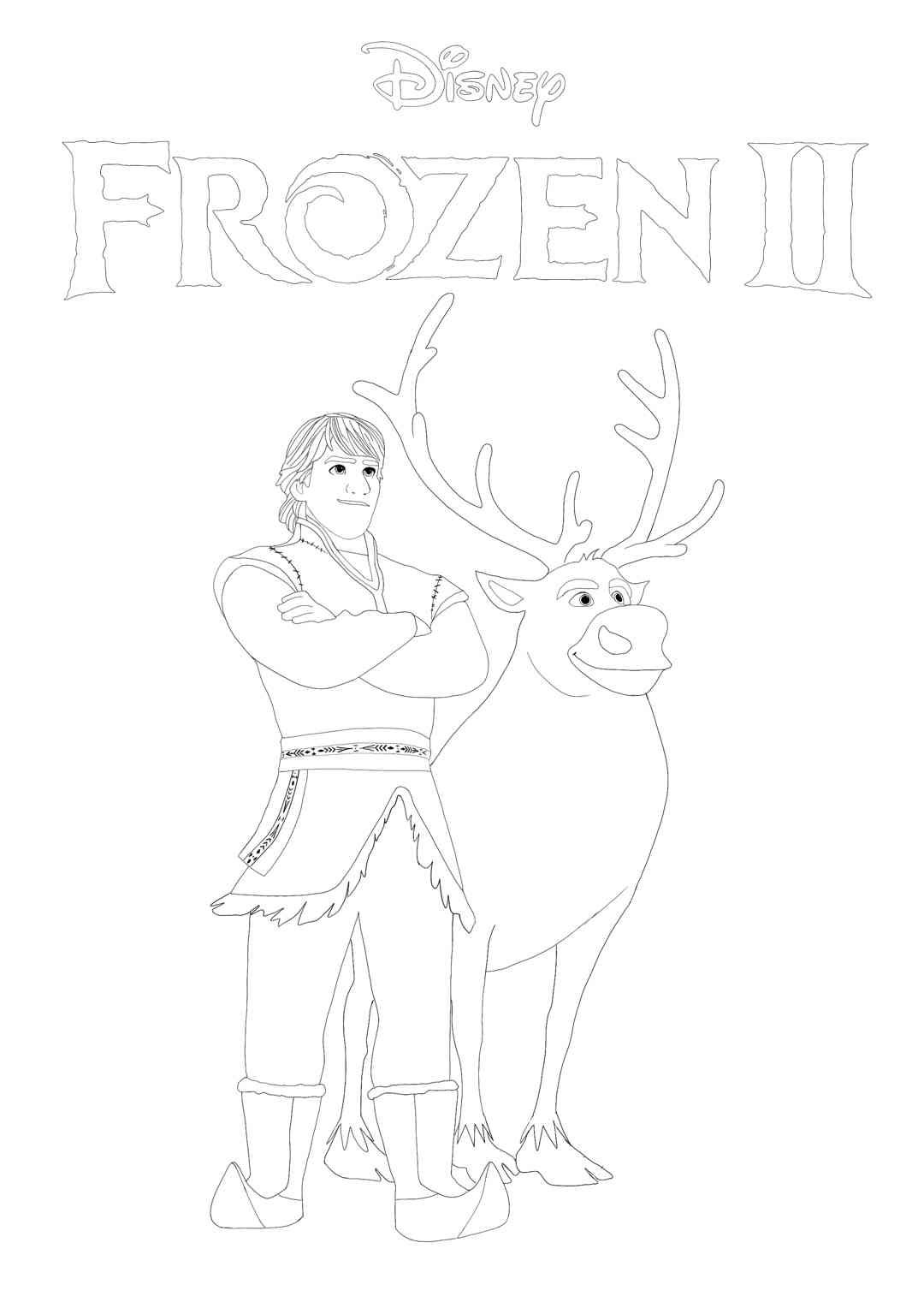 Free Frozen 2 Kristoff And Sven Coloring Page Print Or Download Frozen Ii Coloring Pictures Printable Coloring Pages Frozen Coloring Frozen Coloring Pages