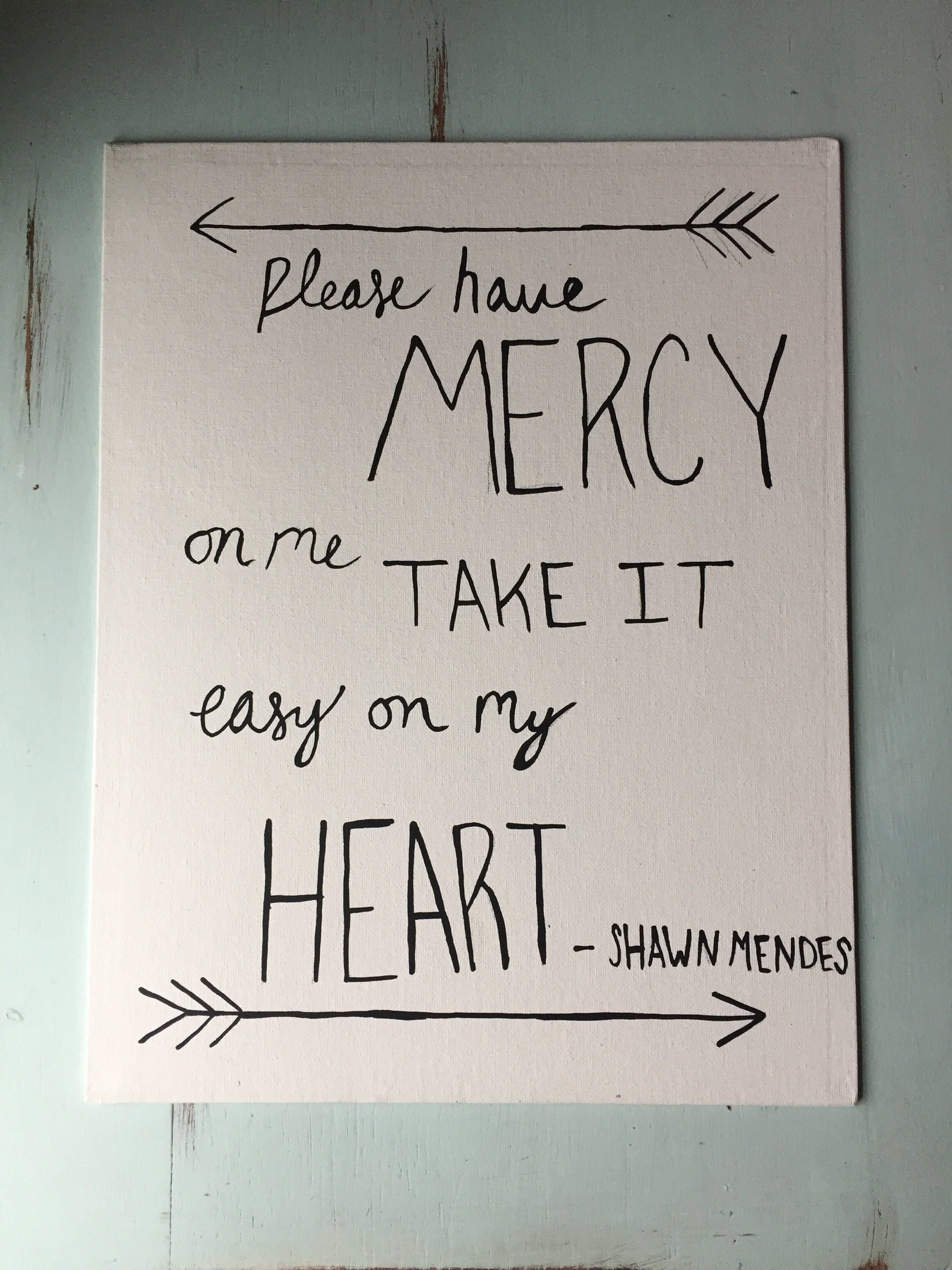 Mercy Shawn Mendes 8x10 In Handmade Canvas Art With Images
