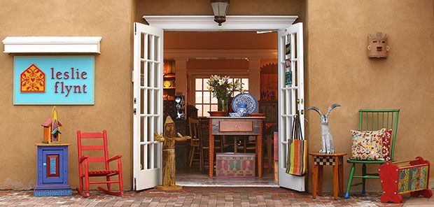 Leslie Flynt Furniture Folk Art Decorative Accessories Gifts And Jewelry In Santa Fe New Mexico