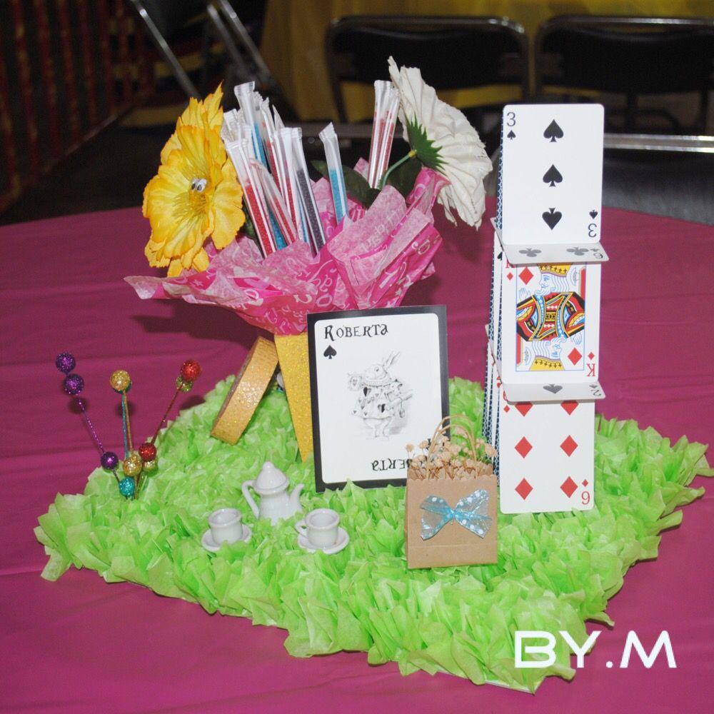Centro de mesa 2... Alicia en el País de las Maravillas | Fiestas ...