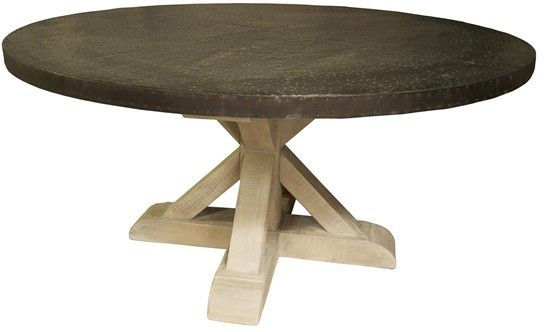 kitchen  round wooden dining table zinc table