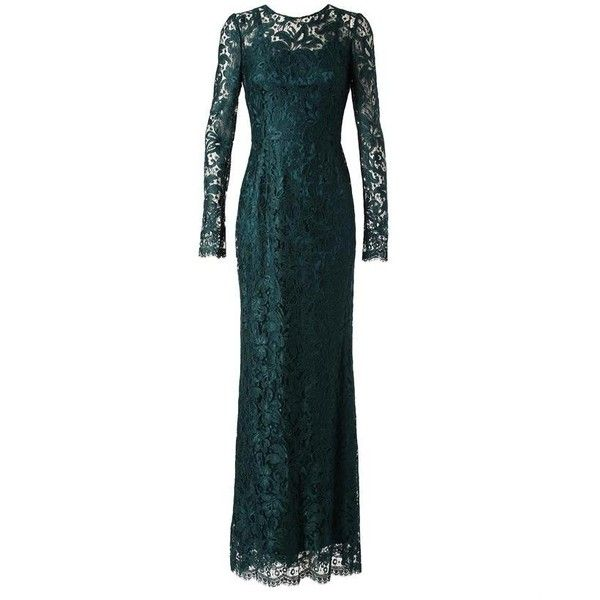 DOLCE & GABBANA Lace Gown With Slip ($3,875) found on Polyvore