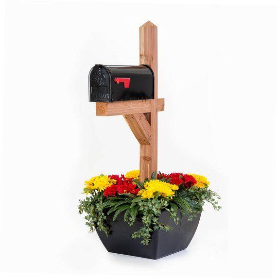 Snot Planter Black Flower Pot For Mailbox Post Or Deck