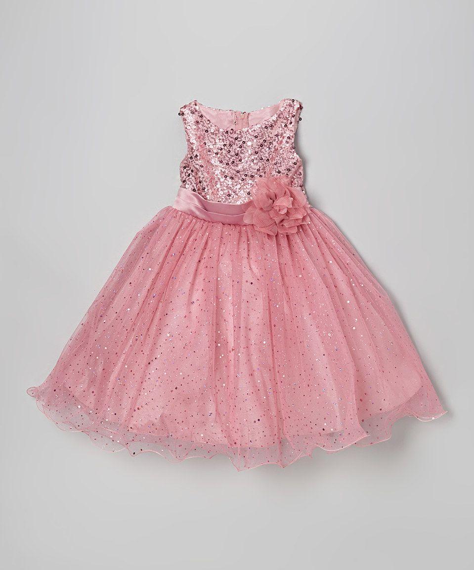 Kidus dream dusty rose sequin tulle aline dress toddler u girls