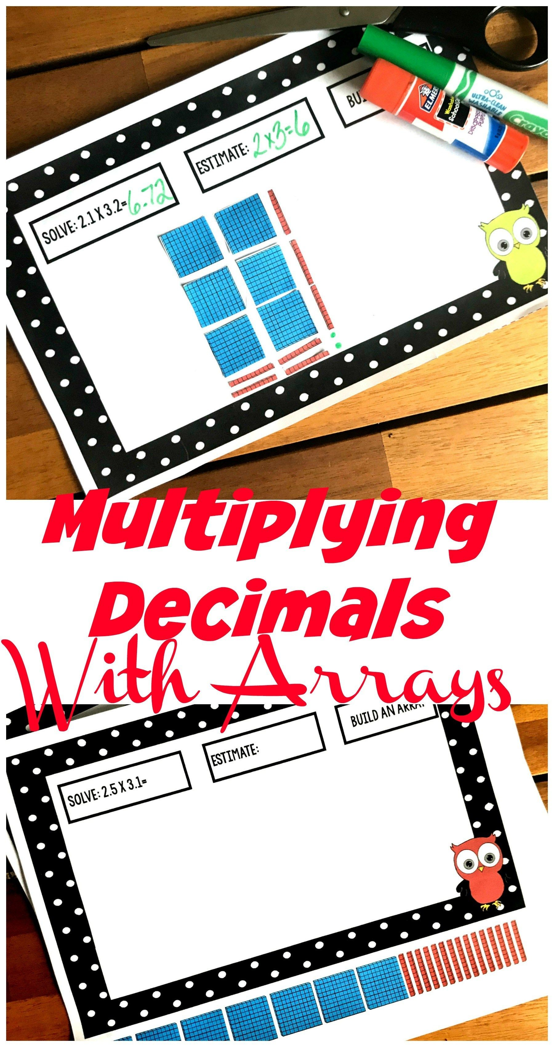 How To Model Multiplying Decimals With Arrays Free