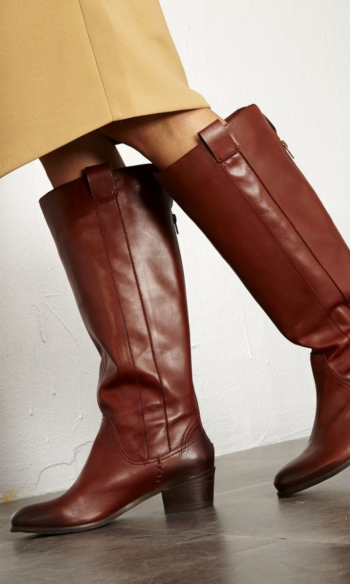 Tried and true classic: A genuine leather riding boot with a