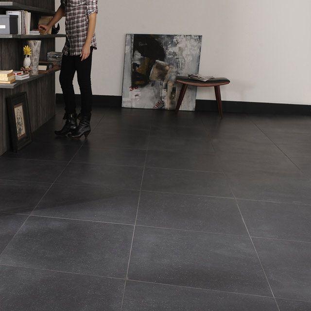 Carrelage sol noir granit 60 x 60 cm castorama Carrelage cuisine castorama