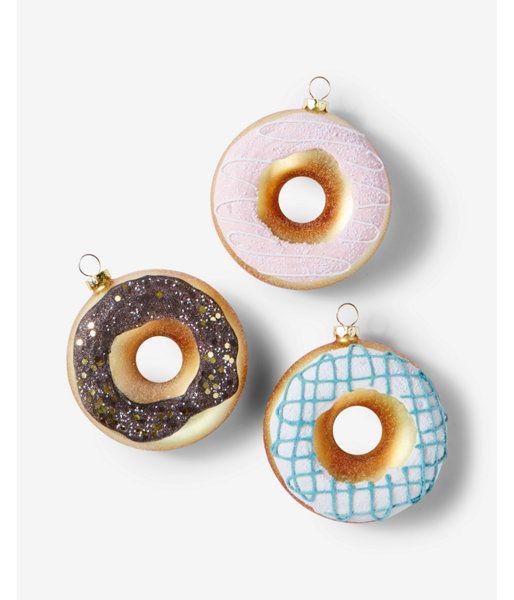 8 Oak Lane Donut Ornaments Set Women S Multi Products Ornaments Donuts Christmas Decorations