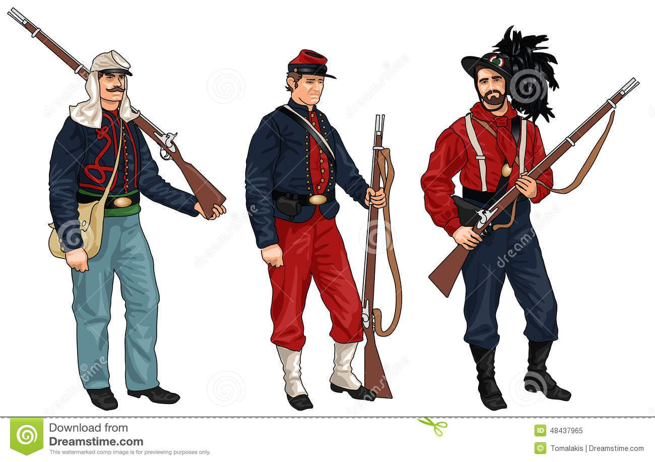 Three Soldiers From American Civil War - Download From Over 52 ...