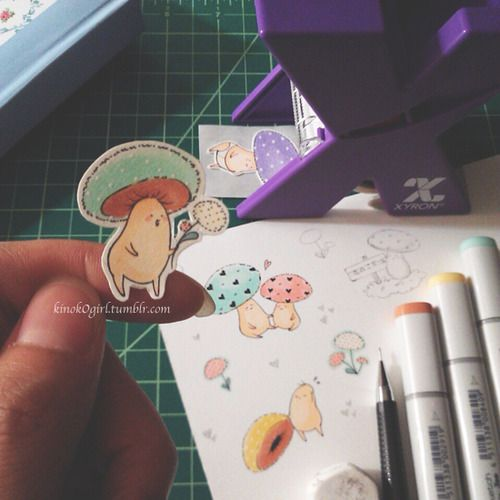 Handmade Shroom Baby sticker. Planning to set up an online store and sell some in the future!