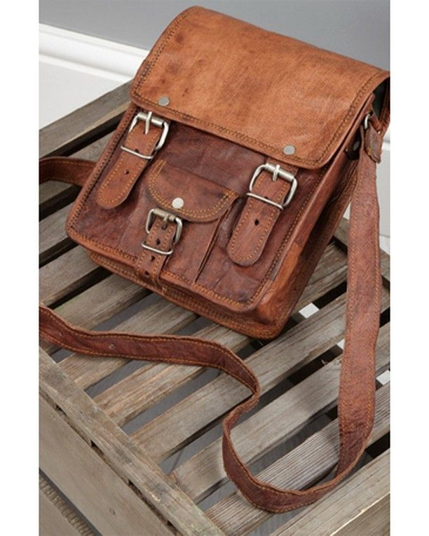 Tall Leather Satchel 15