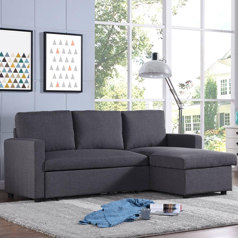 Sofa Deals Online: Merton 3 Seater Futon Sofa Bed With Storage - Tweed
