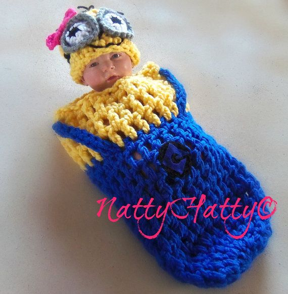 Despicable Me Minion For boy Crochet Hat cocoon and by NattyHatty ...