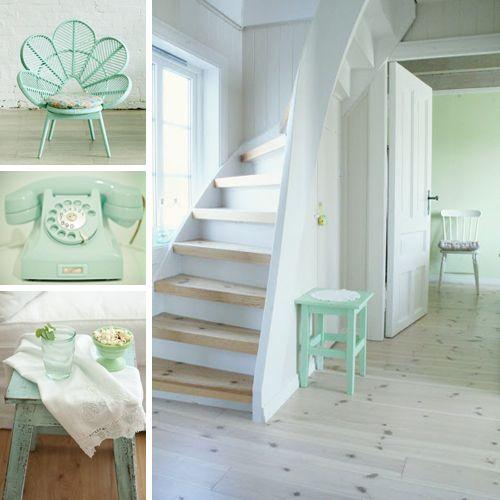Paleta de colores verde menta decoraci n de interiores for Decoracion de interiores verde