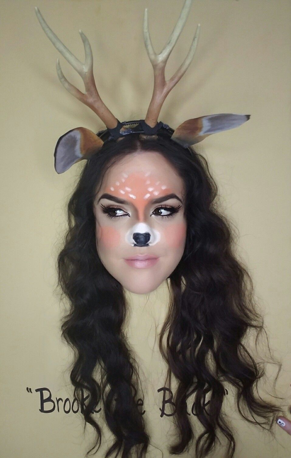 Deer, makeup, costume, snapchat, filter, Halloween, diy