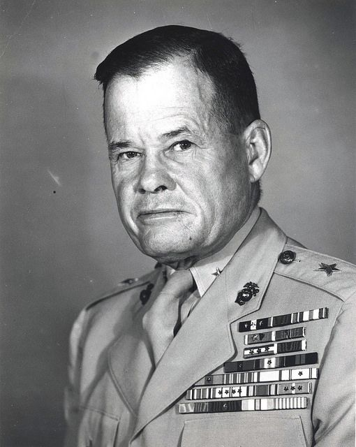Brigadier General Lewis B. Puller, circa 1952  From the Lewis B. Puller Collection (COLL/794) at the Marine Corps Archives and Special Collections   OFFICIAL USMC PHOTOGRAPH