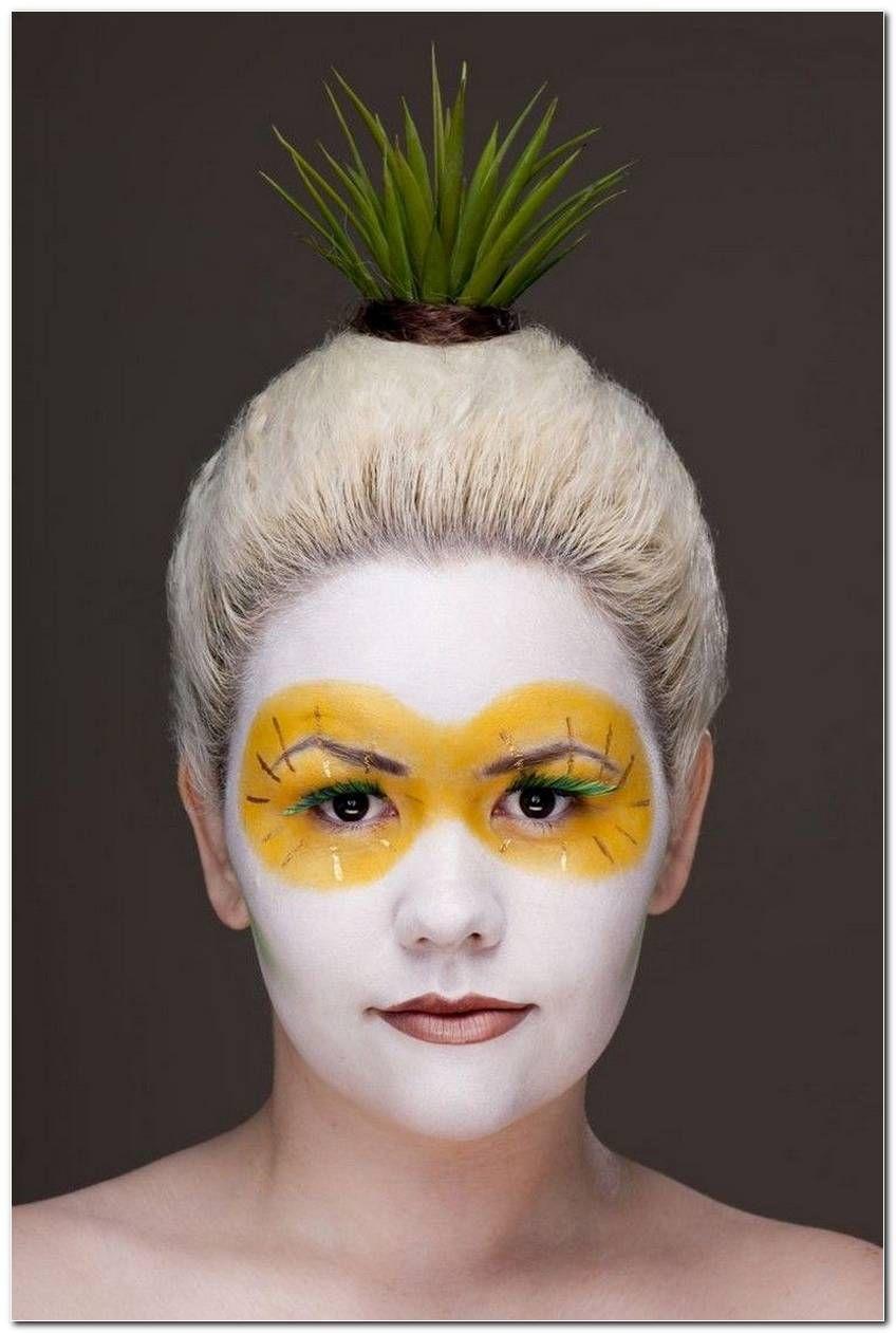 Ananas Frisur Bilder Pineapple Costume Diy Pineapple Costume Pineapple Face