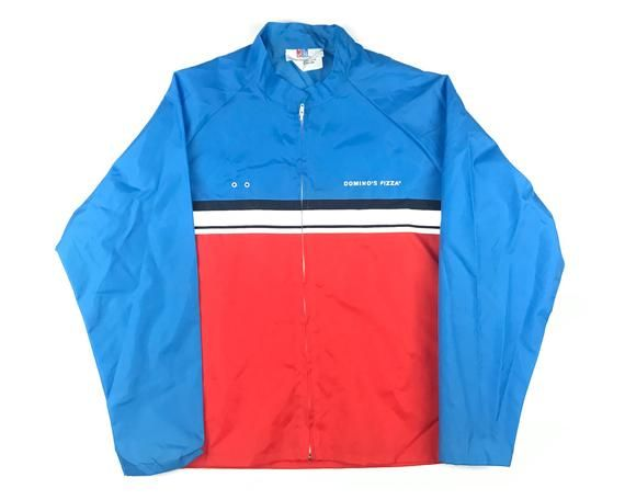 Vintage Dominos Pizza Windbreaker Delivery Jacket 80s