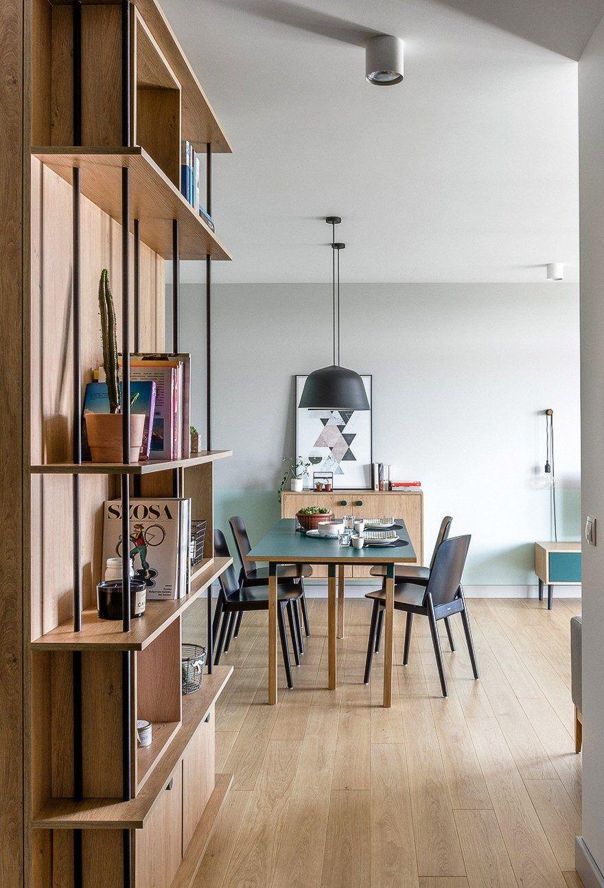 Modern Scandinavian Style Flat For A Young Couple Raca Architekci Apartment Interior Scandinavian Apartment Apartment Design