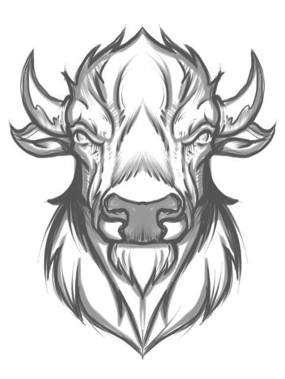 Buffalo - Sketch - Joshua M. Smith | imagenes | Pinterest | Tattoos ...