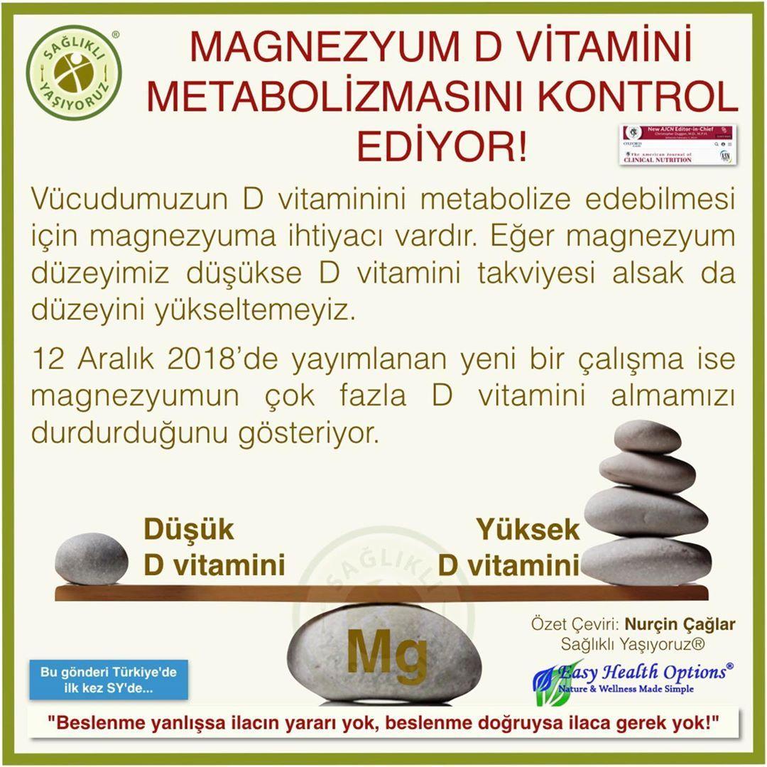 Saglikli Yasiyoruz On Instagram Magnezyum D Vitamini Metabolizmasini Kontrol Ediyor D Vitamini Duzeyini Optimi Convenience Store Products Convenience Store