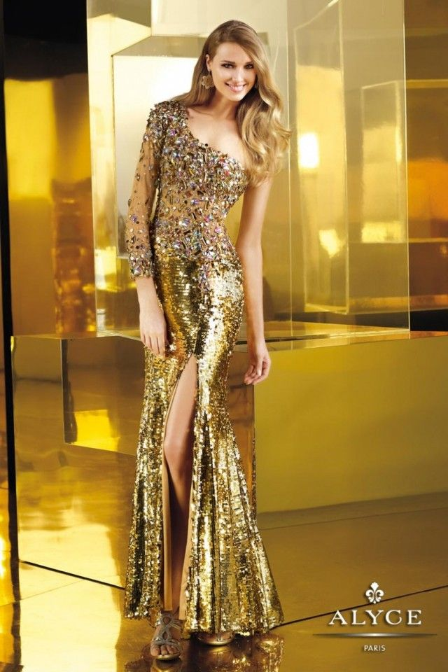 BEAUTIFUL!!! I love gold... Claudine for ALYCE Paris | 2013 fall dress collection