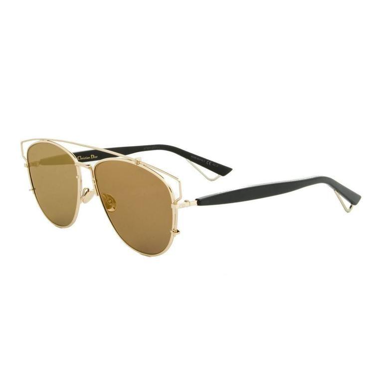 DIOR Technologic Gold and Black Sunglasses