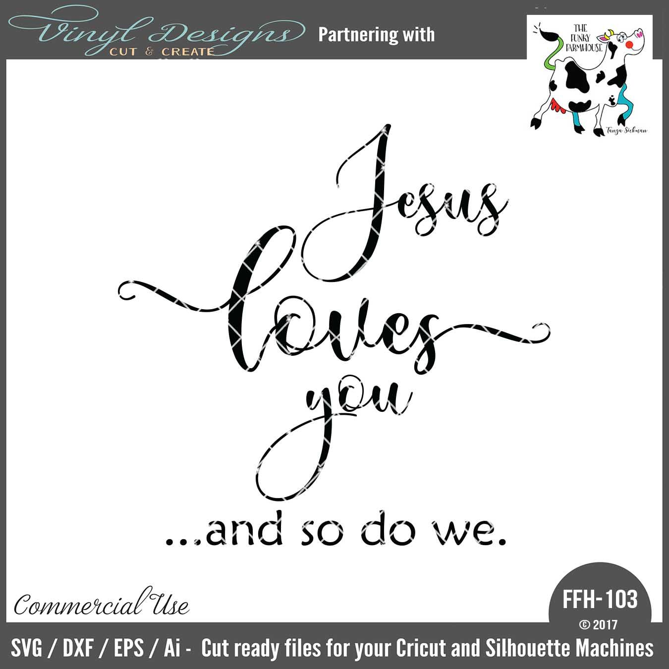 Download FFH103 Jesus Loves You. Sold By Funky FarmhouseSmall ...