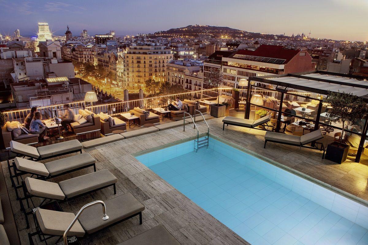 Hotel Condes De Barcelona Terraza