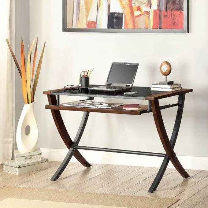 Nalu Computer Desk With Images Bayside Furnishings Classic Office Furniture Small Office Furniture