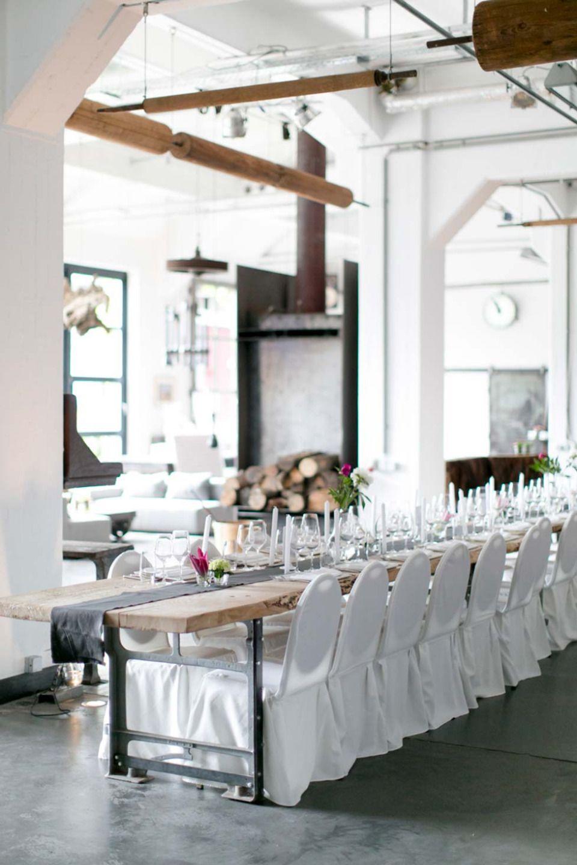 Tina Und Marcel Ihre Elegante Hochzeit Im Industrial Chic Elegante Hochzeit Hochzeit Elegant