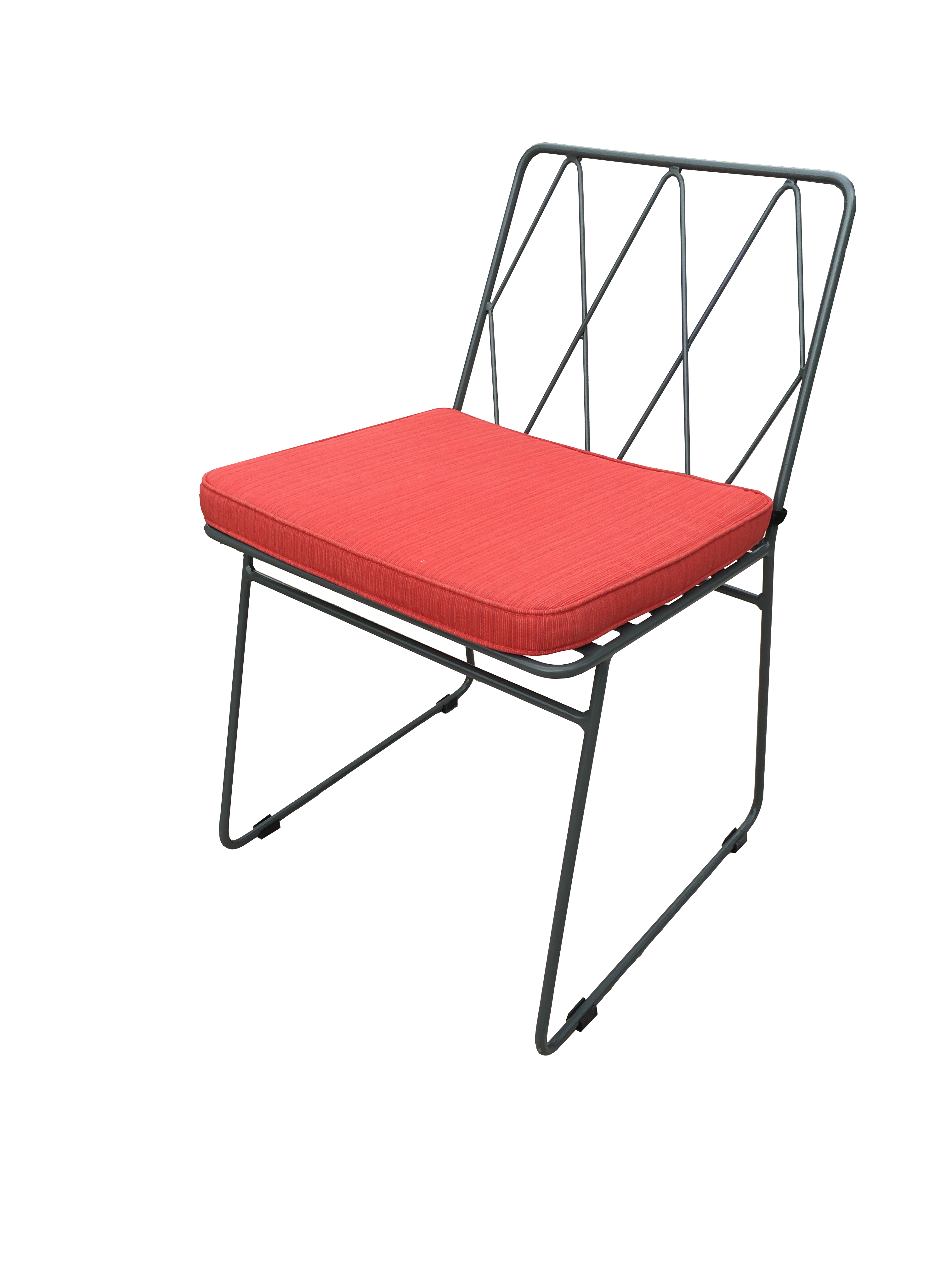 Metal chair with seat pad cyprus