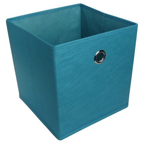 Room Essentials Fabric Drawer Teal Blue Cube Storage Bins Cube Storage Room Essentials