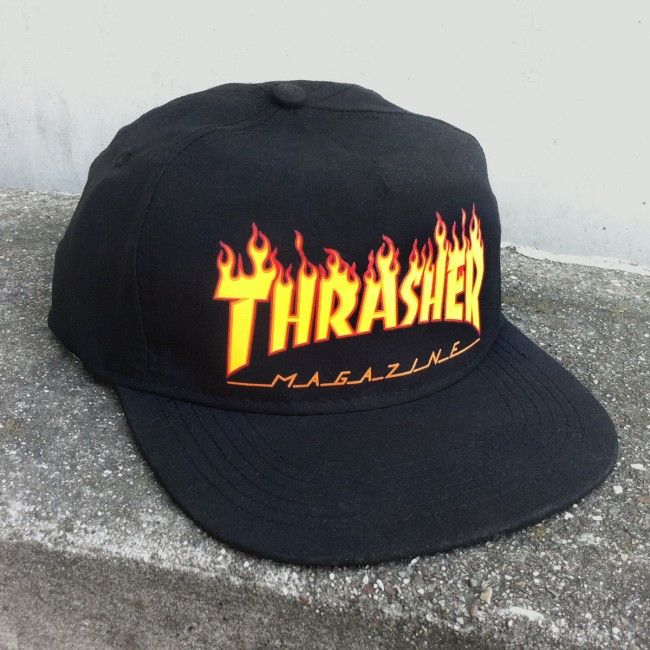 Thrasher Magazine Shop - Thrasher Flame Logo Snapback Hat Loghi 5be510fd389a
