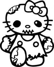 Halloween Coloring Pages To Print Hello Kitty Zombies Printable Sheets