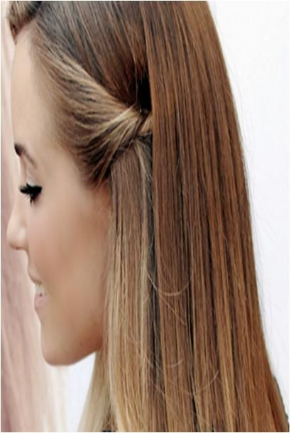 side pull back, everyday hair style | Hairstyles | Pinterest ...