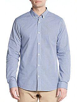 MICHAEL KORS Cotton Gingham Sport Shirt. #michaelkors #cloth #shirt