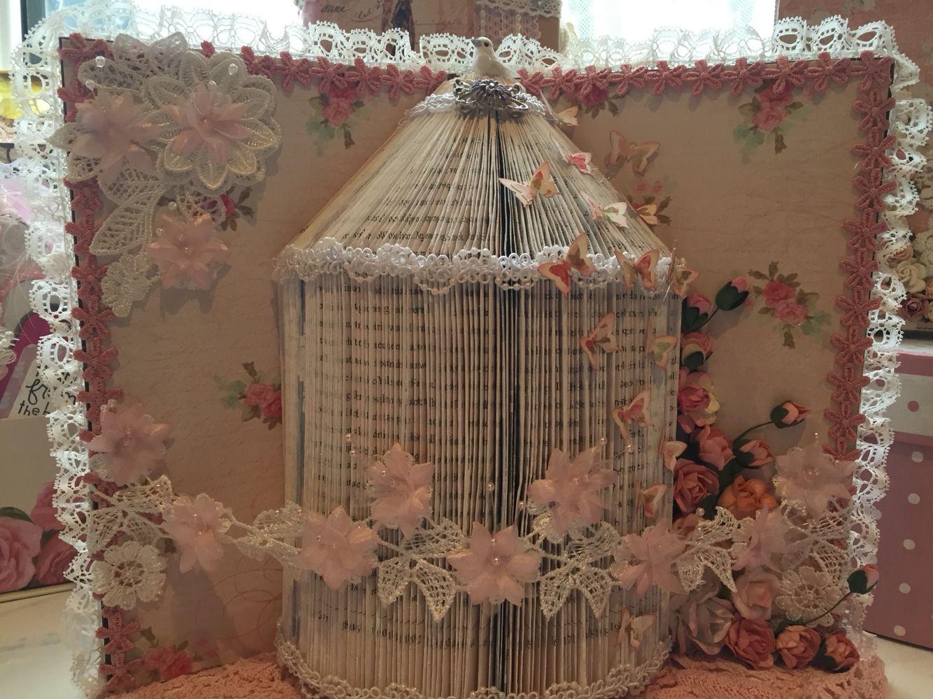book folding birdcage altered art pinterest livres plies pliage et vieux livres. Black Bedroom Furniture Sets. Home Design Ideas