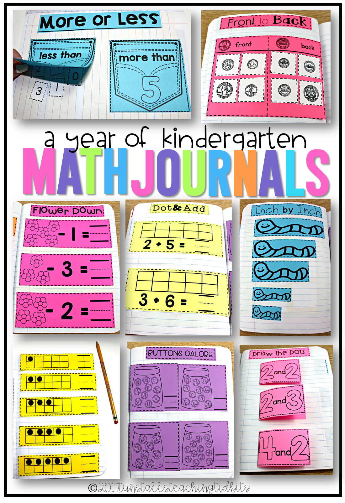 Kindergarten Math Journal Bundle