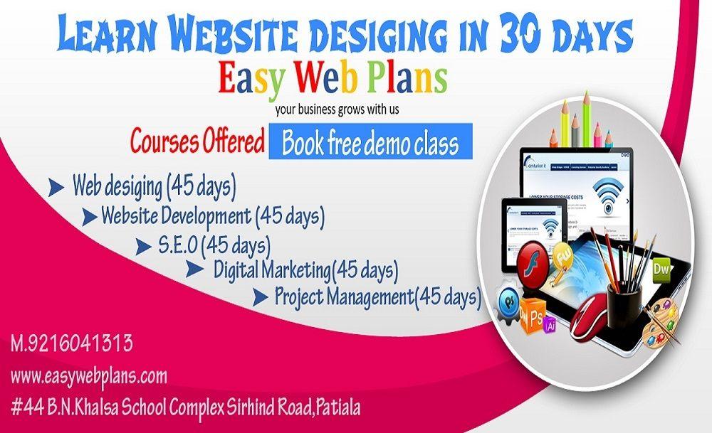 Website Designing Course In Patiala Web Design Training Web Design Course Website Design