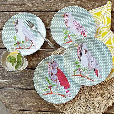 Bird Melamine Plates & Bird Melamine Plates | ?? | Pinterest