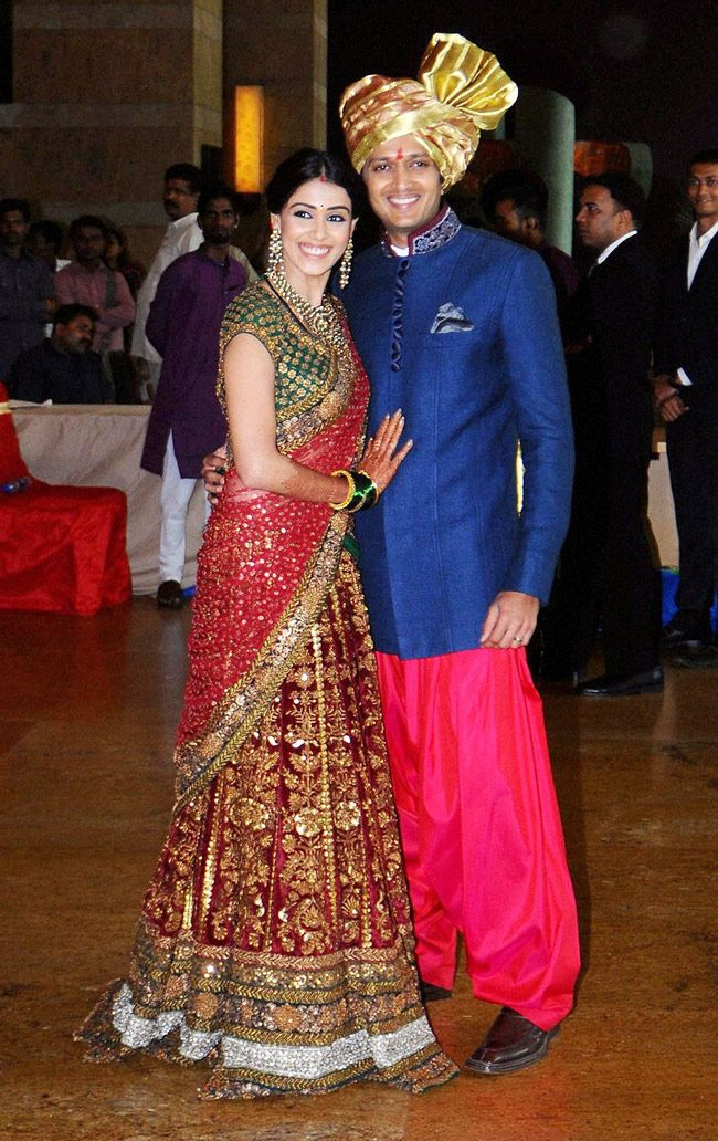 Riteish Deshmukh Genelia DSouza Bollywood Fashion
